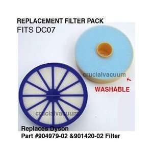 Dyson DC07 HEPA Filter Kit   Washable Pre & Post Motor Vacuum