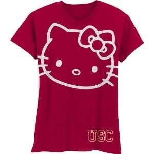 Trojans Hello Kitty Inverse Girls Crew Tee Shirt