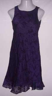 jessica howard purple sparkle dress womens 8P sandals
