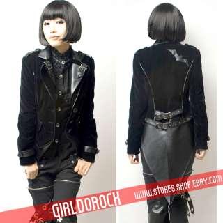 PUNK Kera Y260 Cosplay Gothic JACKET BLACK BLAZER M L