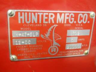 HUNTER 12 VOLT RV TRAILER MILITARY TENT HEATER