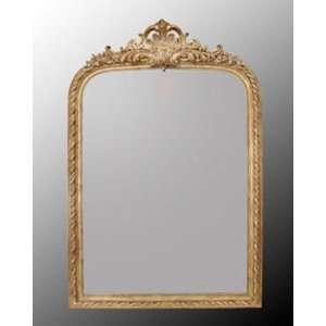 Antique Gold Finish Wood Frame Bevel Mirror
