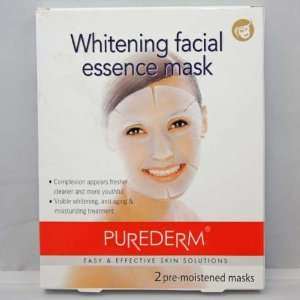 Purederm Whitening Facial Essence Mask(2 pre moistened