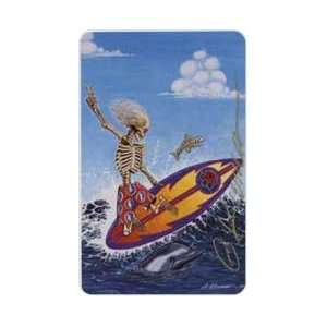 Collectible Phone Card 25u Grateful Dead Surfin Dead Artwork by