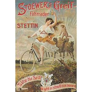 STOEWERS GREIF STETTIN GIRL RIDING A BICYCLE BIKE CYCLES