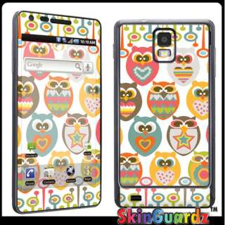 Owl Vinyl Decal Case Skin Cover Samsung Infuse 4G