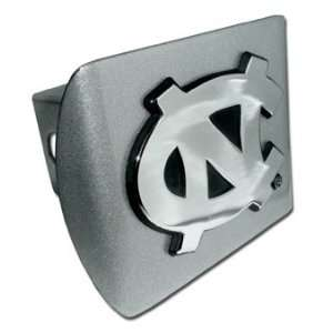 University of North Carolina Brushed Chrome Hitch Cover Automotive