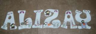 CUSTOM NURSERY WALL LETTERS COCALO JACANA MONKEY JUNGLE
