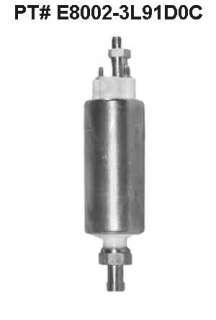 100 PSI electric external fuel pump, 40 GPH w/line fitg
