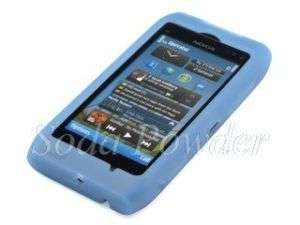 Silicone Case Soft Skin Cover for Nokia N8 (Blue)