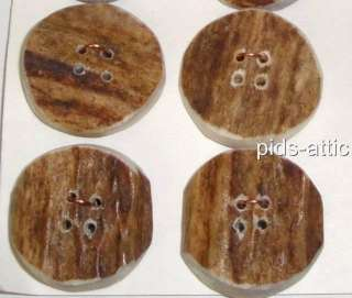 EIGHT Buttons Carved From Genuine Elk Antler