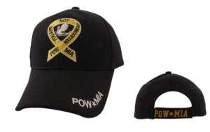 POW MIA YELLOW RIBBON BASEBALL CAP MILITARY C1014 HAT