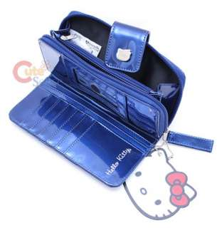 Sanrio Hello Kitty Embossed Wallet  Metallic Blue USA