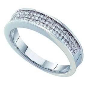 14k White Gold Diamond Cut Wedding Band (6.00 mm)