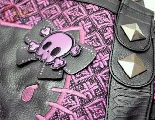 Sanrio Hello Kitty Angry Kitty Tweed Leather Hand Bag Loungefly 5