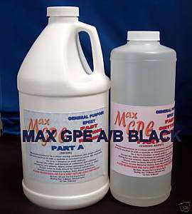 EPOXY RESIN BLACK COATING GEL COAT REPAIR 96 OUNCE KIT