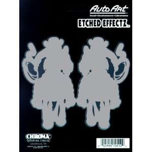 Chroma Graphics Cowgirl Etched Effects Decals (2 pc): Automotive