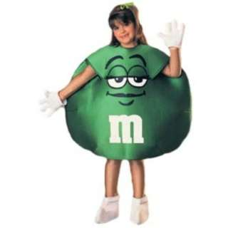 Rubies GREEN M&Ms Halloween Costume M&M Child Size 4   6 NEW