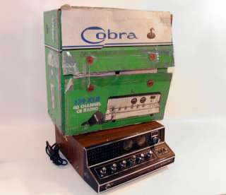 vtg Cobra 40 Channel CB Radio SSB/AM CB Base Station Transceiver Radio