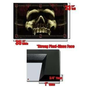 Framed Demon Devil Skull Horns Evil Poster Fr8896