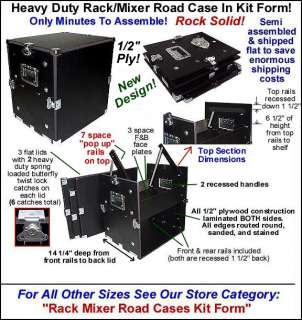 Space Over 4 Space RACK MIXER ROAD CASE   Kit Form
