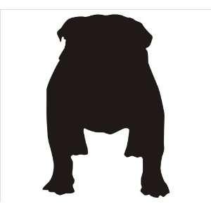 Dog Window Sticker  English Bull Dog Breed Exterior Window