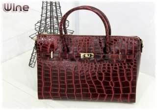 Leather Womens Tote/Shoulder Bags   4 Colors (Wine/Black/Brown/Tan