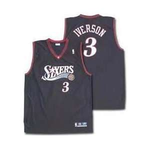 ALLEN IVERSON JERSEY ALL STITCHED MENS LARGE:  Sports