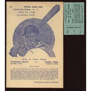 1968 Baseball Hall of Fame Game Program & Stub   Sports
