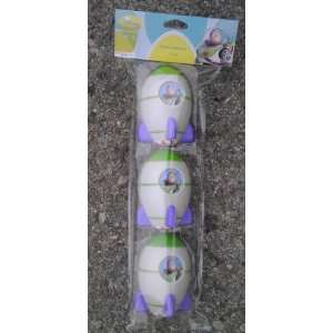 3 Toy Story Plastic Easter Eggs   Buzz Lightyear Toys