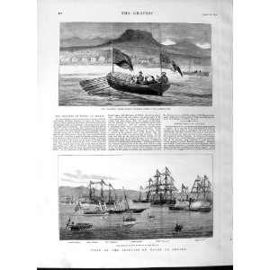 1877 Osborne Barge Ship Princess Wales Greece Piraeus