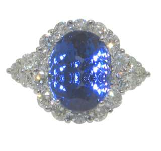 31 CT WOMENS ROUND CUT DIAMOND & TANZANITE RING