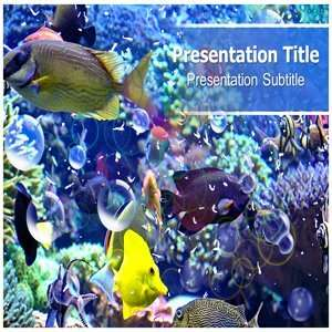 Fresh Water Fish PowerPoint Template   Fresh Water Fish