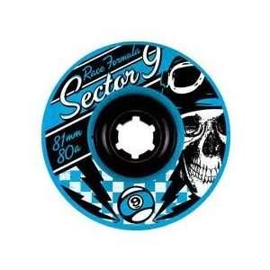 Sector 9 Race 80a 81mm Blue longboard Wheels (Set of 4