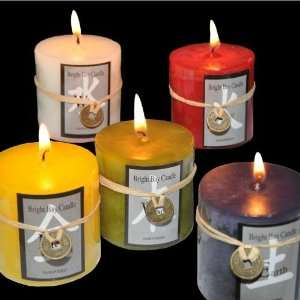 Chinese Feng Shui 5 Pack Large Candles: Home & Kitchen