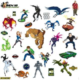 NEW Ben 10 Peel Stick Room Applique Wall Decal Stickers