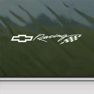 CHEVY BOWTIE RACING White Sticker Car Vinyl Window Laptop White Decal