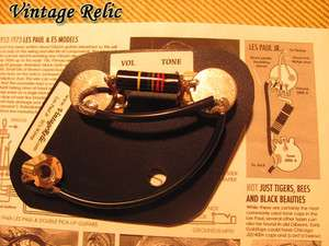 Les Paul Jr Pre wired harness LUXE Bumblebee Cap for Gibson LPJunior