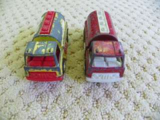 1970 Tootsie Toy Lot of 6 Fire Engines Fire Trucks +