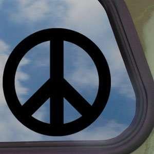 Peace Black Decal Car Truck Bumper Window Vinyl Sticker