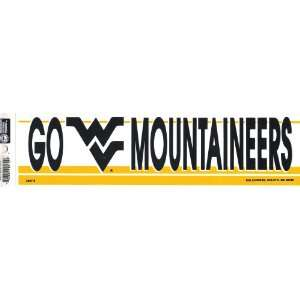 WEST VIRGINIA MOUNTAINEERS NCAA decal bumper sticker