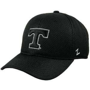 Zephyr Tennessee Volunteers Black Stealth Fitted Hat