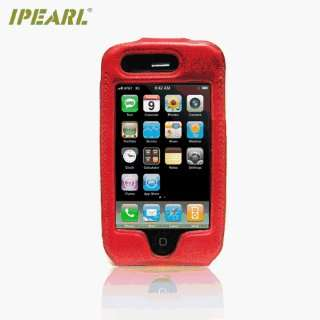 iPearl Premium Leather Case with Removable Swivel Belt Clip for iPhone