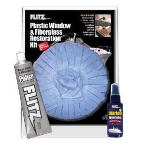 Flitz Mixed Plastic, Window and Fiberglass Restoration Kit
