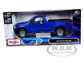 2010 FORD F 150 STX PICKUP TRUCK BLUE 1/27 DIECAST MODEL CAR BY MAISTO