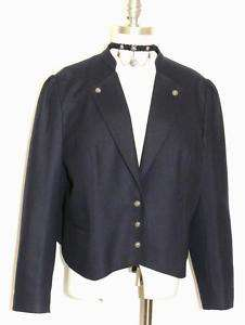 BLUE ~ WOOL Women German Princess Dress JACKET 50 18 XL