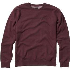 Mr. Crew Fleece Mens Sweater Race Wear Sweatshirt   Burgundy / Medium