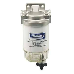 Mallory 9 37886 1/4 Stainless Steel Visi Bowl Fuel Filter
