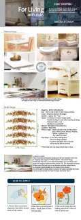 ROSE VINE ★ PEEL & STICK EASY ACCENT ART DECOR STICKER