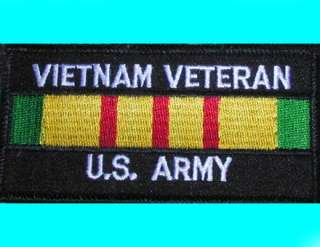 VIETNAM VETERAN U.S. ARMY moto motorcycle biker PATCH